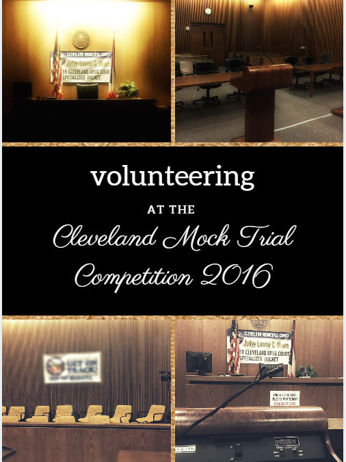 Volunteering for the Mock Trial Competition 2016