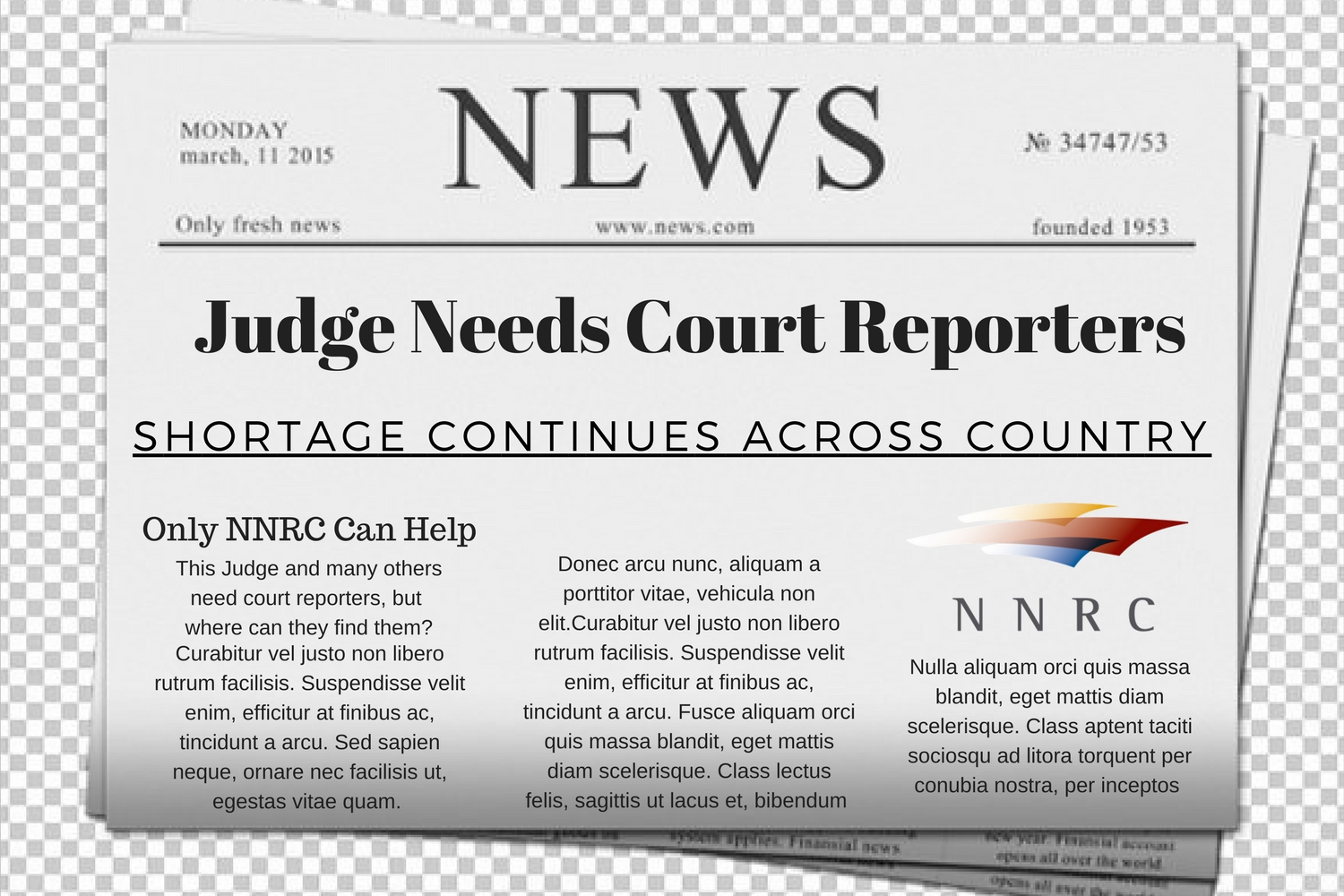Judge Needs Court Reporter