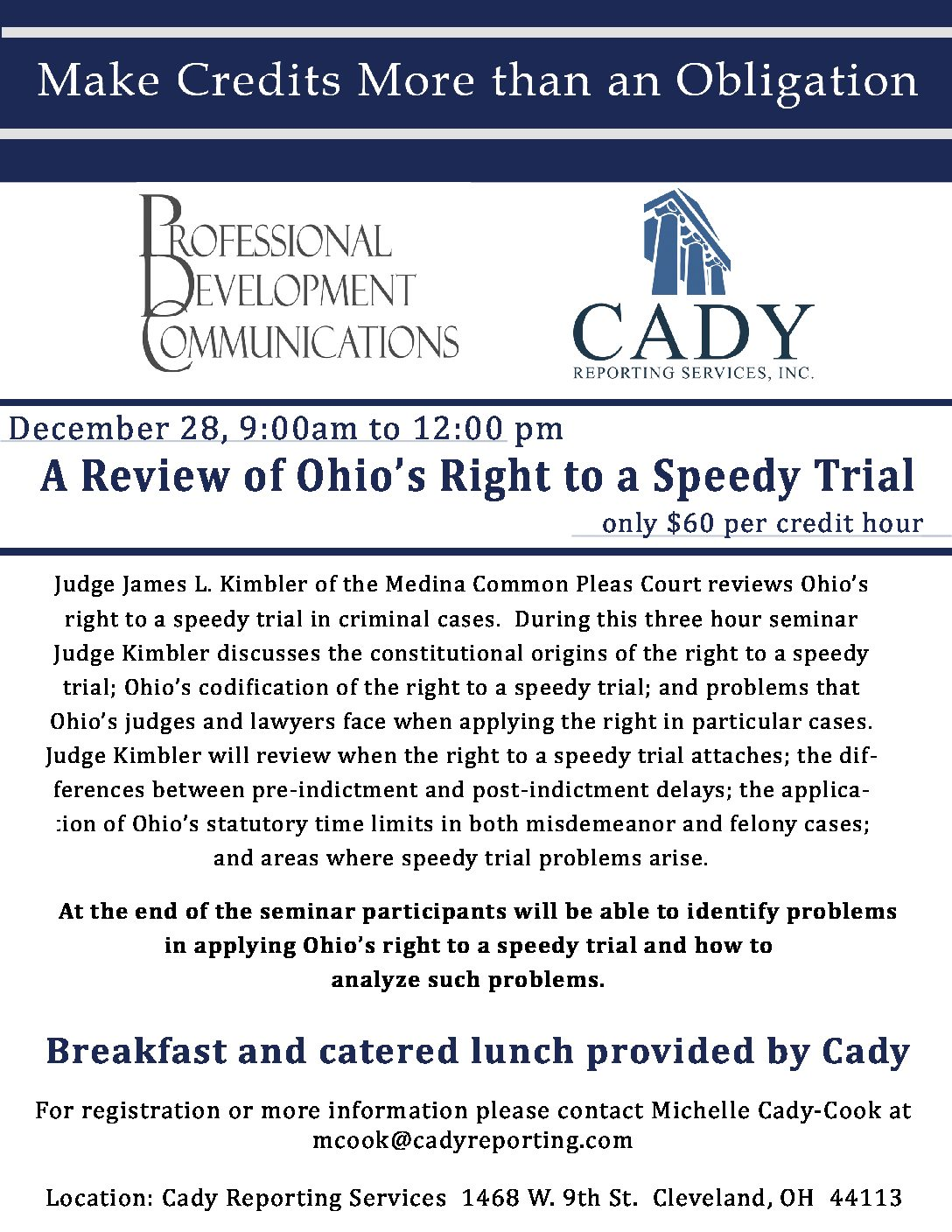 CLE: A Review of Ohio's Right to a Speedy Trial