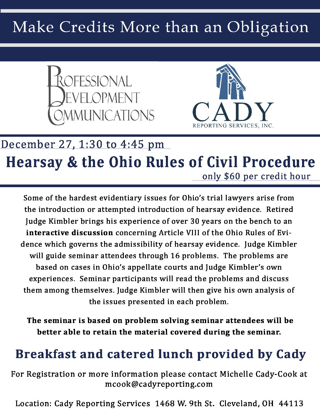 CLE: Hearsay and the Ohio Rules of Evidence