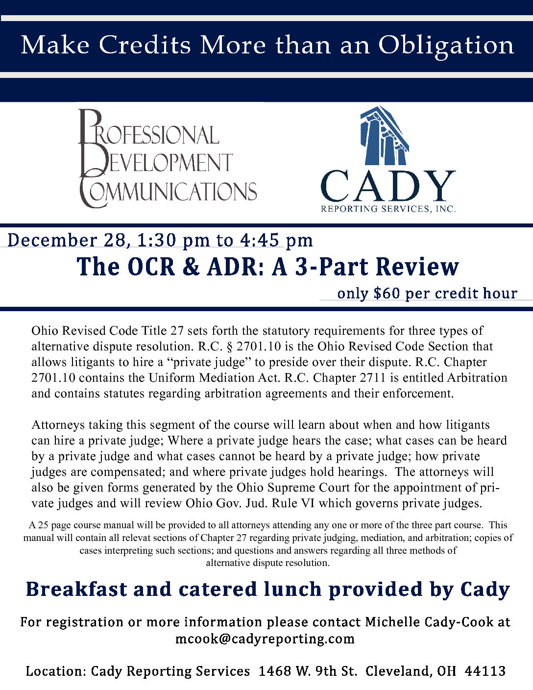CLE: The OCR and ADR, a 3-Part Review