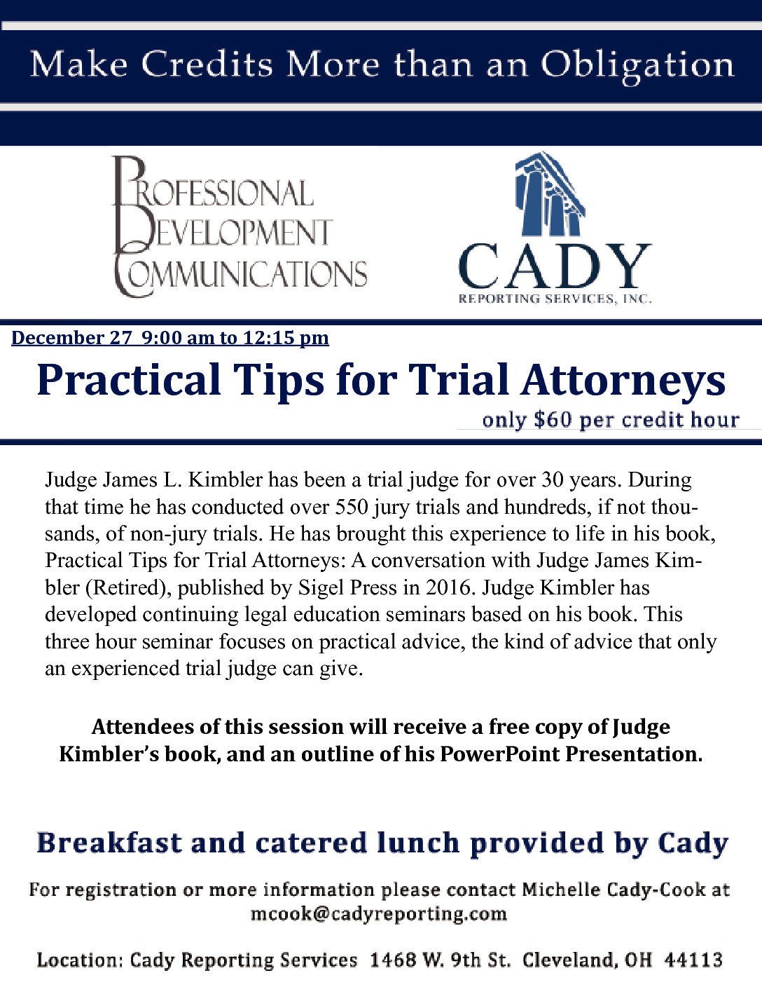 CLE: Practical Tips for Trial Attorneys