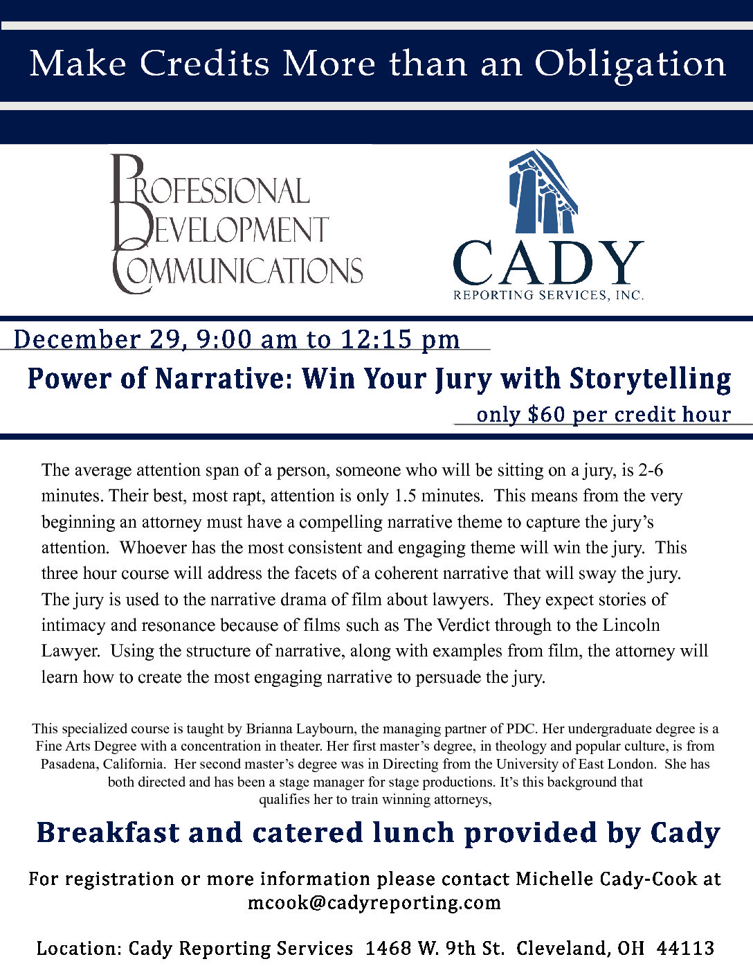 CLE: The Power of Narrative: Win Your Jury With Storytelling