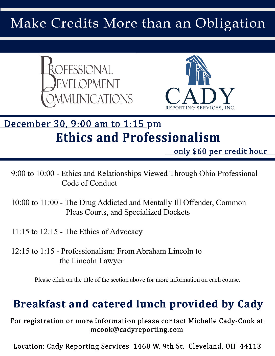 CLE: Ethics and Professionalism