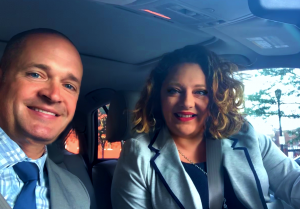 Chris Hanwell and Michelle Cady-Cook of Cady Reporting Court Reporting Services.  On Greener Way to Work Day 2019