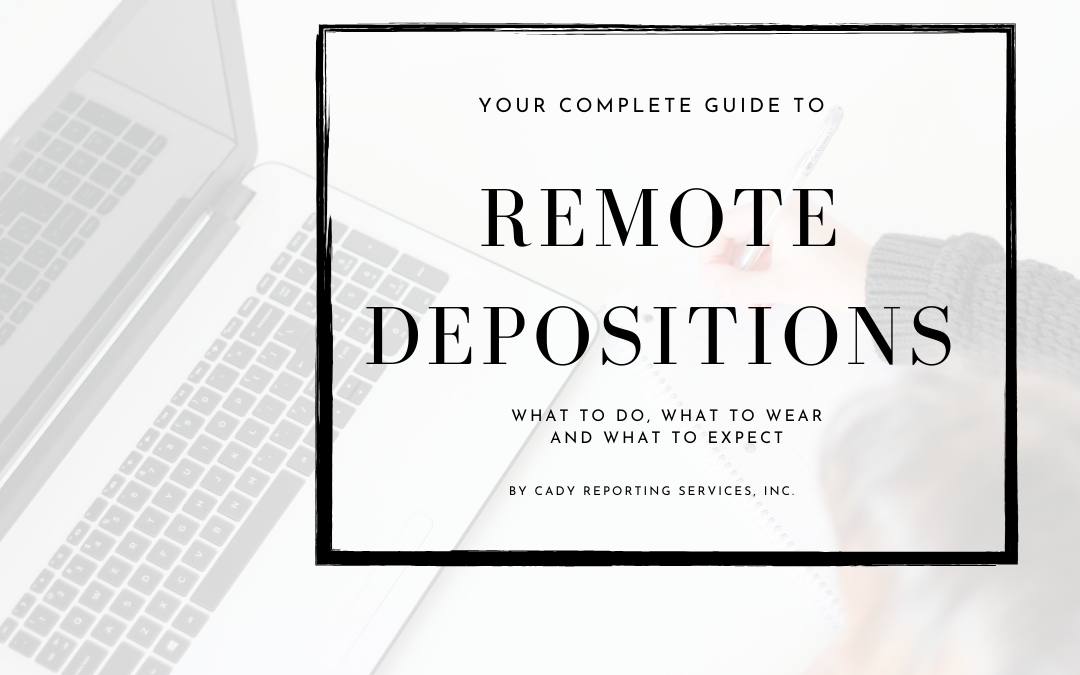 Remote depositions Checklist
