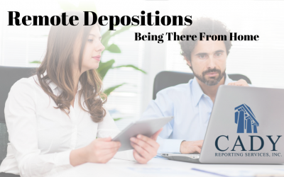 Remote Depositions: Be There From Home