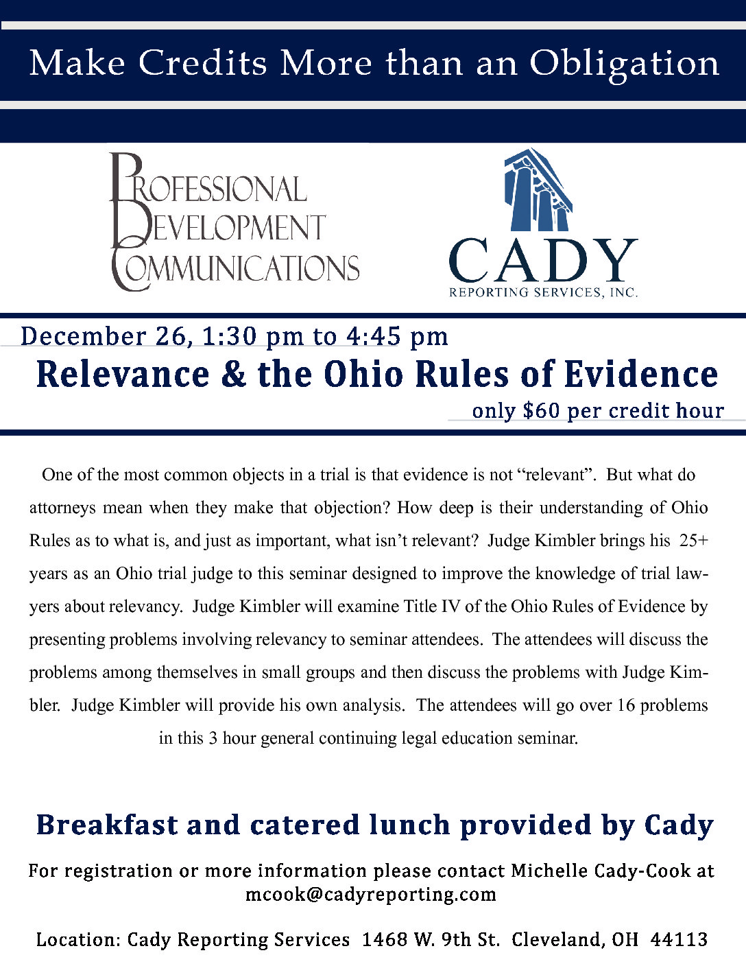 CLE: Relevance & the Ohio Rules of Evidence